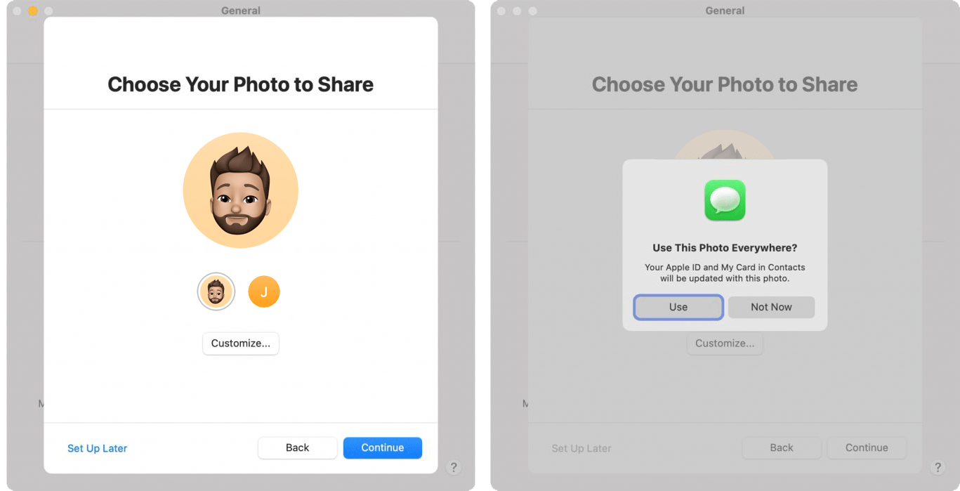 Choose your Photo to share