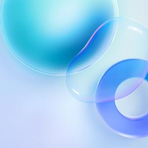 Huawei Nova 8 Pro Wallpaper for iPhone Blue Bubble