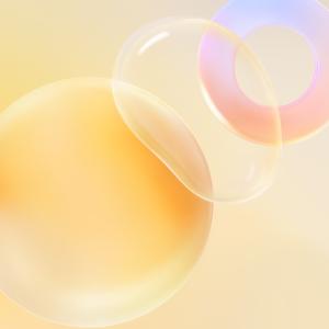 Huawei Nova 8 Pro Wallpaper for iPhone Yellow Bubble