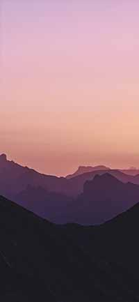 Best Mountain iPhone 12 Pro Max Wallpapers purple sky 200x433