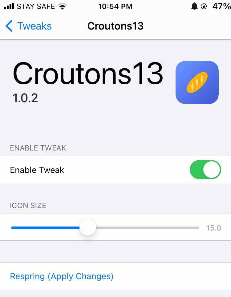 Croutons13 Tweak Settings