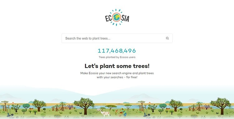 Ecosia Search Engine for iPhone