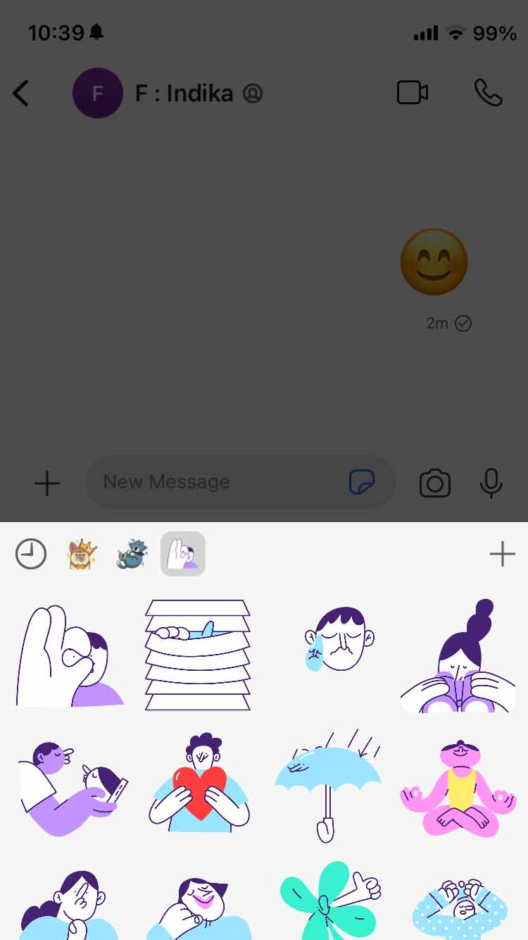 Select Sticker you want to send in Signal