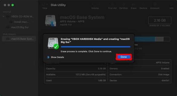 macOS Big Sur Disk Utilities Screen Step 4