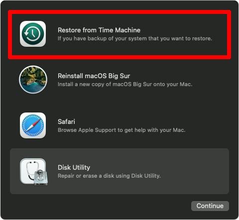 macOS Big Sur Disk Utilities Screen Step 5