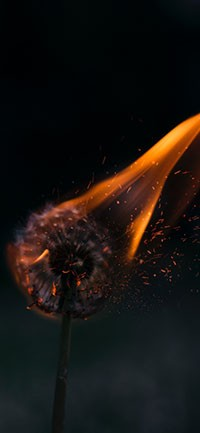 Flame Mysterious Wallpaper 200x433