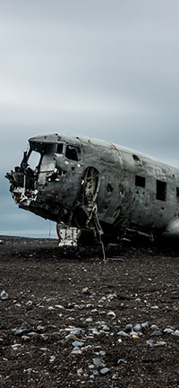 Mysterious abandon aircraft iPhone Wallpapers 200x433
