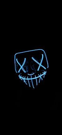 Mysterious neon light Wallpapers 200x433