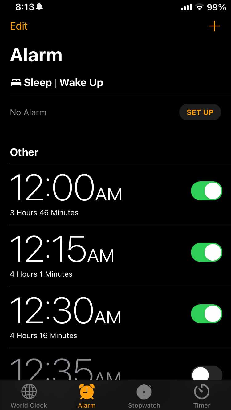 NappyTime14 adds countdown timers to your iPhone's alarm