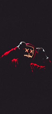Neon mask face iPhone Wallpaper 200x433
