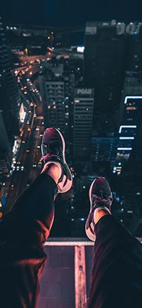 Night shoes Mysterious iPhone Wallpaper 200x433