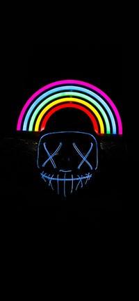 beautiful neon rainbow color Wallpapers 200x433