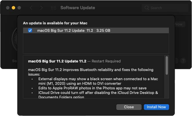 macOS Big Sur 11.2 update is now available