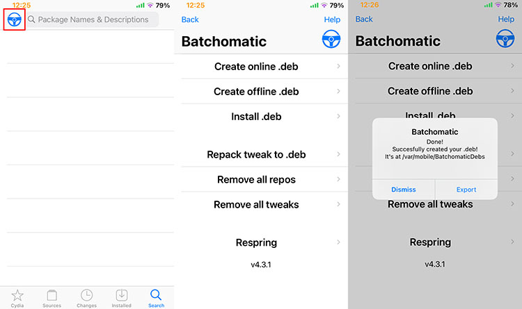 Batchomatic tweak settings