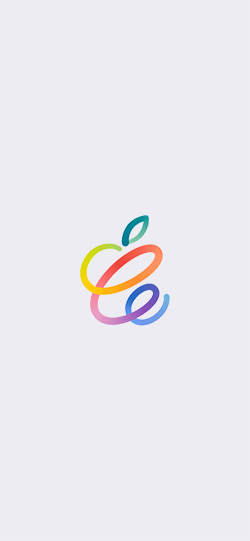Apple Spring Loaded event iPhone wallpapers white