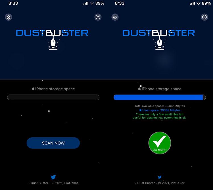Εφαρμογή DustBuster