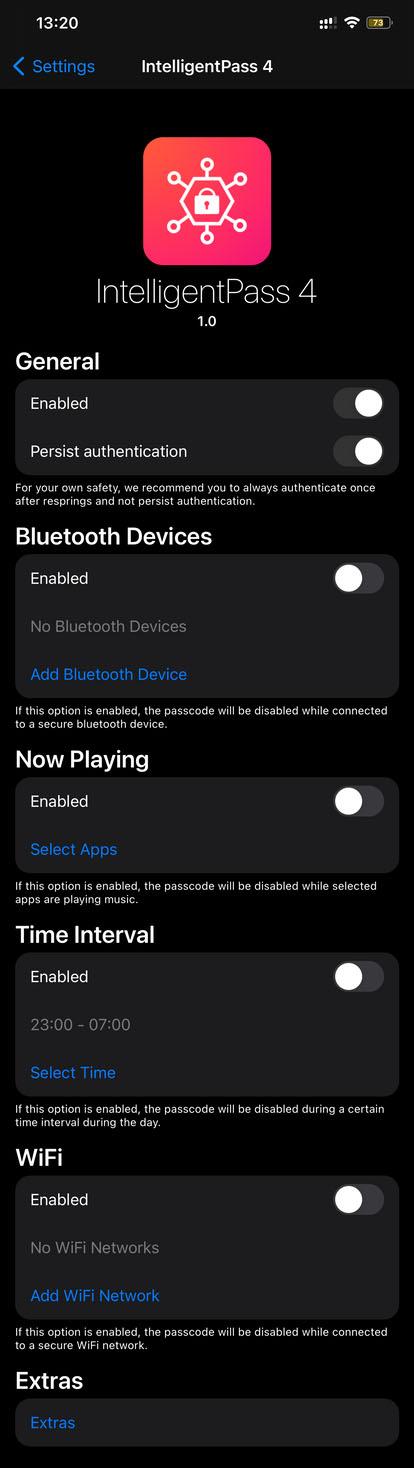IntelligentPass 4 Tweak Options