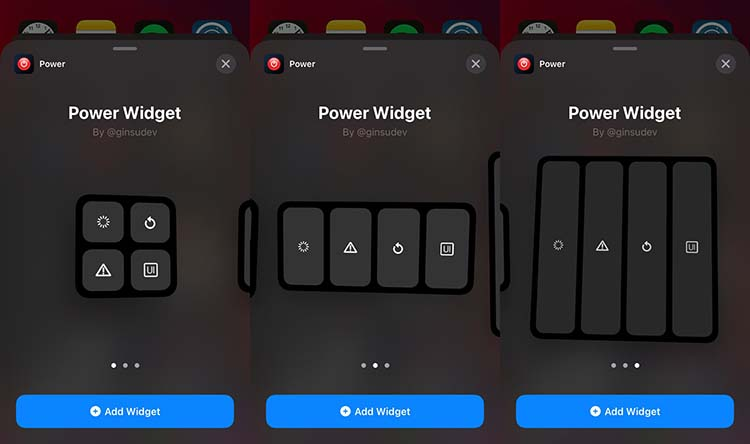 PowerWidget Widgets