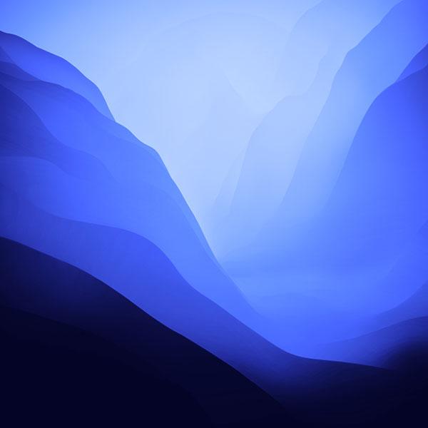 macOS Monterey wallpaper blue 600x600