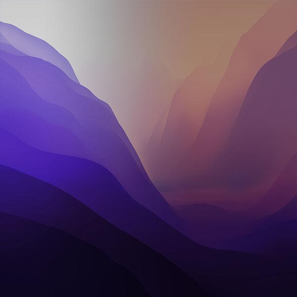 macOS Monterey wallpaper purple 600x600