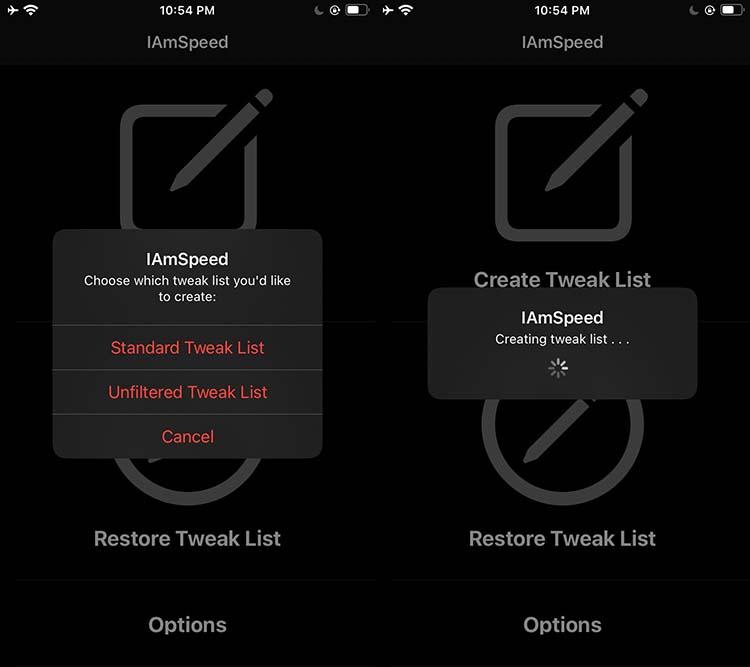 Create a Backup Tweak List - IAmSpeed