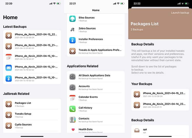 BackupAZ 4 iOS 14