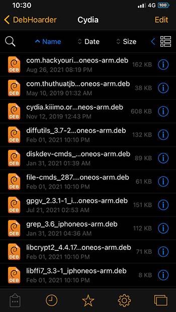 DebHoarder για iOS 14