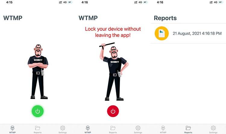 Ποιος άγγιξε την εφαρμογή του τηλεφώνου μου - Ενεργοποίηση εφαρμογής